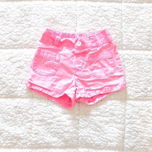 Carters size three girls neon pink cotton shorts